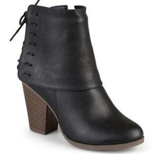 JOURNEE Collection Corset Lace Ankle Bootie black